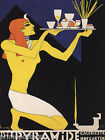 THE PYRAMID EGYPTIAN WAITER DRINKS FOOD GERMANY VINTAGE POSTER REPRO