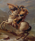 NAPOLEON CROSSING THE ALPS WHITE HORSE PAINTING BY JACQUES LOUIS DAVID REPRO