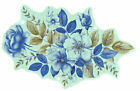 Ceramic Decals Blue Rose Floral Bouquet Flower image