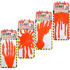 Scary Realistic Gel Bloody Red Halloween Party Horror Window Decorations Sticker