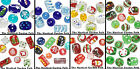 Christmas Hand Painted Glass Beads *Santa Snowmen Gingerbread & More