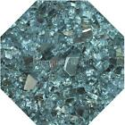 "Azuria Reflective 1/4"" Fireglass Fire Glass Fire Pit Fireplace Glass Crystals"