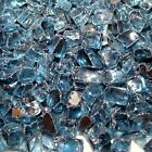 "Pacific B Reflective 1/2"" Fireglass Fire Glass Fire Pit Fireplace Glass Crystals"