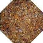 "3/4"" Amber Fire Glass Fireglass Fire Pit Fireplace Glass Crystals Gas Logs"