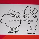 Turkey Suprise Shapes Flat Unfinished Wood Cut Outs Craft Variety Sizes T91034