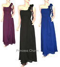 Formal Evening Bridesmaids ChiffonDress Black Blue Purple Size 8 10 12 14 16 New