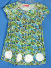 FLAPDOODLES Stretch Etched Print Turquoise Dress GIRL SIZES NWT