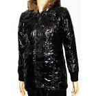 DameN WinTeR Long Jacke *LacK-GlanZ-OptiK* SteppjacKe Kurz ManTeL 36-40 #J-09853