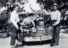 8x10 1947 HUNTERS RIFLE HUGE MULE DEER BUCK HOOD OF OLDSMOBILE CA HUNTING PHOTO