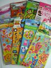 CHARACTER FUN STICKERS (Party Loot Bags) - 6 Sheets/Pack {fixed £1 UK p&p}