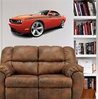 Challenger RT Muscle Car WALL GRAPHIC FAT DECAL #9462 R/T MAN CAVE GARAGE OFFICE