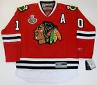 PATRICK SHARP CHICAGO BLACKHAWKS 2010 CUP RBK JERSEY