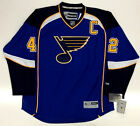 DAVID BACKES ST LOUIS BLUES REEBOK PREMIER HOME JERSEY WITH C NEW