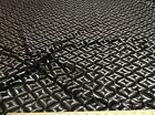 Discount Fabric Stretch Mesh Lace Black and metallic Silver Geometric LC656
