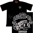 Rat Rod Hot Rod Car Work Shirt,  Lucky 13