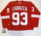 JOHAN FRANZEN DETROIT RED WINGS REEBOK PREMIER HOME JERSEY