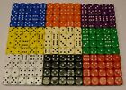100 Dice Choose your Colours 14mm Spot Dice Games RPG NEW