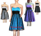 Cocktail Party Bridesmaid Cocktail Dress Blue Purple Grey Black Size 8 to 24 New