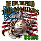 "Military "" THE FEW THE PROUD..THE MARINES "" 50/50 Gildan/Jerzees T SHIRT"