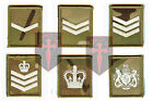 Ivory on Multicam / MTP Velcro Rank Badges LCPL, CPL, SGT, SSGT, WO2, WO1