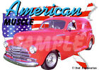 1948 Red Chevy Sedan Delivery Custom Hot Rod USA T-Shirt 48, Muscle Car Tee's
