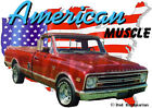 1968 Red Chevy Pickup Truck a Custom Hot Rod USA T-Shirt 68, Muscle Car Tee's