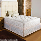"NEW 4ft 6"" Double FIRM ORTHO DIVAN BED +10""QUILTED DAMASK MATTRESSS + HEADBOARD"