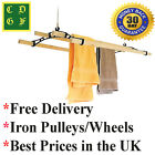 Traditional four lath pine kitchen pulley clothes airer cottage maid ®