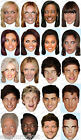 POPSTAR CELEBRITY FACE MASK Fancy Dress Party Spice Girls Take That Rock VARIOUS