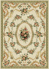 IVORY CREAM PLUM ROSES FLORAL AREA RUG BORDERED MEDALLION CASUAL COUNTY CARPET