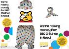 Children In Need Pudsey Bear Eye Patch Neck Tie Hat Bloomers Spotty Set