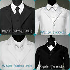 NEW RING BEARER BOY TUXEDO AND FORMAL SUIT AVAILABLE  IN WHITE OR BLACK COLOR