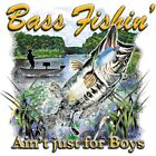 "Southern Girl "" BASS FISHIN' AIN'T JUST FOR BOYS "" 50/50 Gildan/Jerzees T SHIRT"