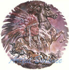 Ceramic Decals Southwest Native American Chief Horse Collage image