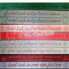 Personalised Good Luck Polyester Ribbon Banner 1m Long x 100mm Fast Despatch