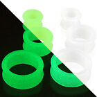 Pair Glow in the Dark Silicone Double Flare Ear Tunnels Plugs Earlets Gauges