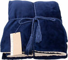 50 x 60 Inch Lightweight Reversible Polyester Plush Versatile Throw Blanket