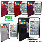 STYLISH GRIP SERIES WALLET CASE COVER FITS APPLE IPHONE 5 & FREE SCREEN GUARD
