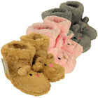 Girls Childrens Animal Novelty Ankle Boot Slipper Kids Bootie Slippers Size 9-3