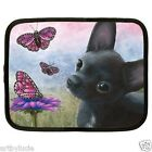 Dog 91 Chihuahua Butterfly Netbook Laptop Tablet Case 7 -15 inches art painting