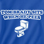Buffalo Bills T-shirt TOM BRADY SITS WHEN HE PEES funny football jersey rare new