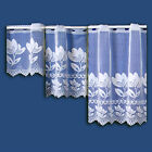 TULIP CAFE NET CURTAIN IN WHITE - SOLD BY THE METRE