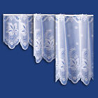 ORCHID CAFE NET CURTAIN IN WHITE - SOLD BY THE METRE