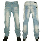 MENS LIGHTWASH KAM JEANS KBS 100 RELAXED FIT JEANS ALL WAIST & LEG BIG KING SIZE