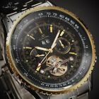 KS Automatic Date Day Mechanical Mens Stainless Steel Sport Wrist Watch + Box