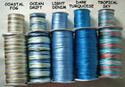 10 Metres X 2mm RATTAIL CORD Satin Nylon - 'BLUE NOTES' IN 5 COLOUR VARIATIONS