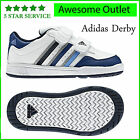 New Adidas Infants Toddlers Derby Velcro Trainers Shoes Uk Sizes 3 4 5 6 7 8 9