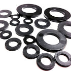 6mm BLACK THICK  NYLON PLASTIC  WASHERS TO SUIT M6 SCREWS & BOLTS, WASHER (FWS)