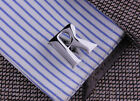 Rare Exquisite Silver Color Letter A To Z Cufflinks Men's Shirt Suit Cuff Links
