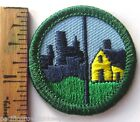 Retired Girl Scout Junior HUMANS & HABITATS BADGE City Skyscrapers House Patch